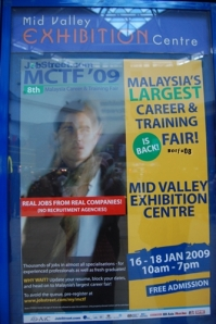 career fair at Mid Valley